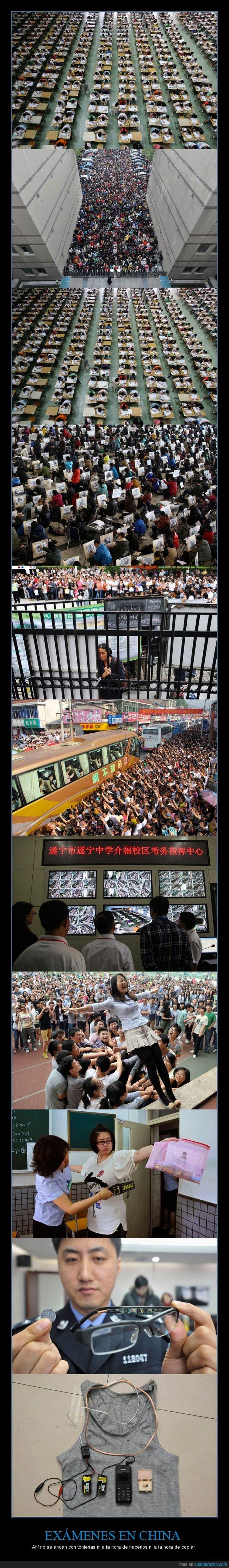 camiseta,China,copiar,estudios,examen,futuro,gafas,gente,grupo,masivo,multitudinario