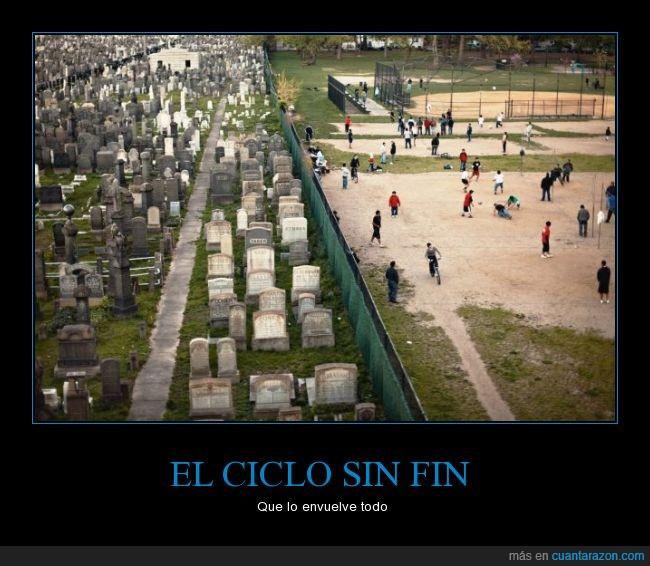 cementerio,ciclo,fin,jugar,muerte,muro,niño,paque,separación,tumba,vida