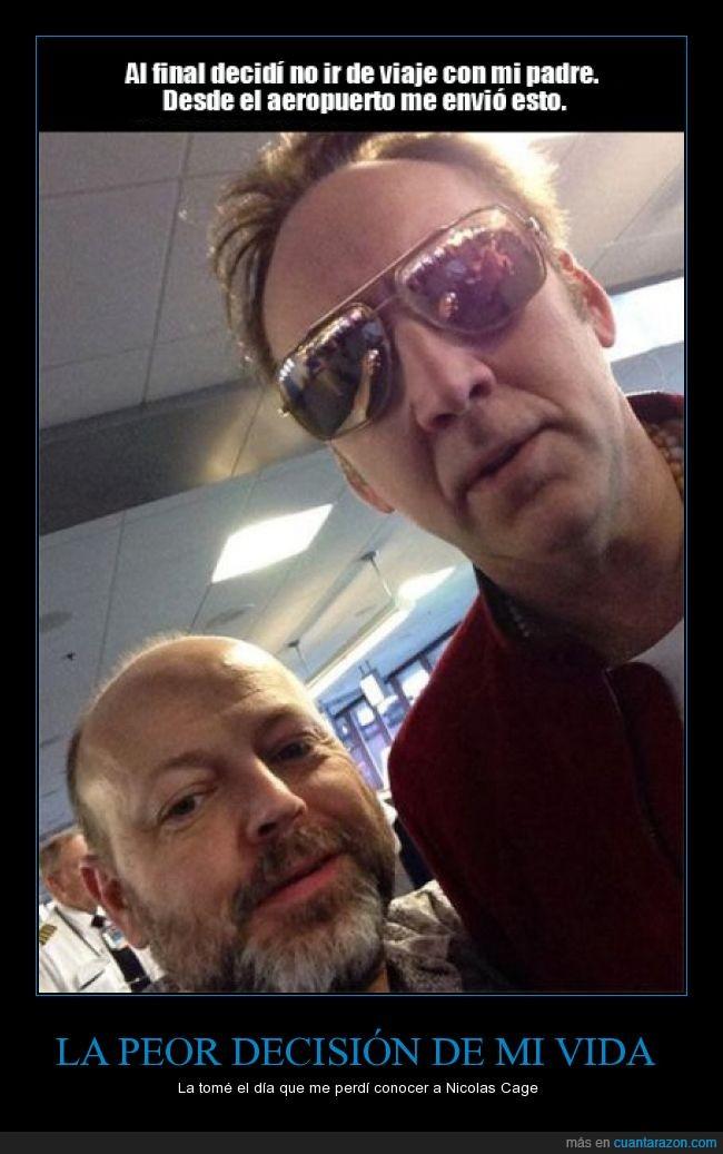 aeropuerto,encontrar,enviar,hijo,Nicolas Cage,padre