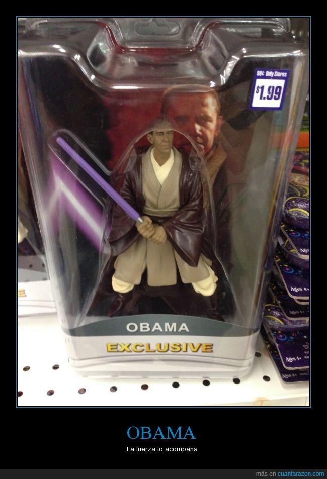 espada laser,jedi,juguete,muñeco,Obama,Star Wars