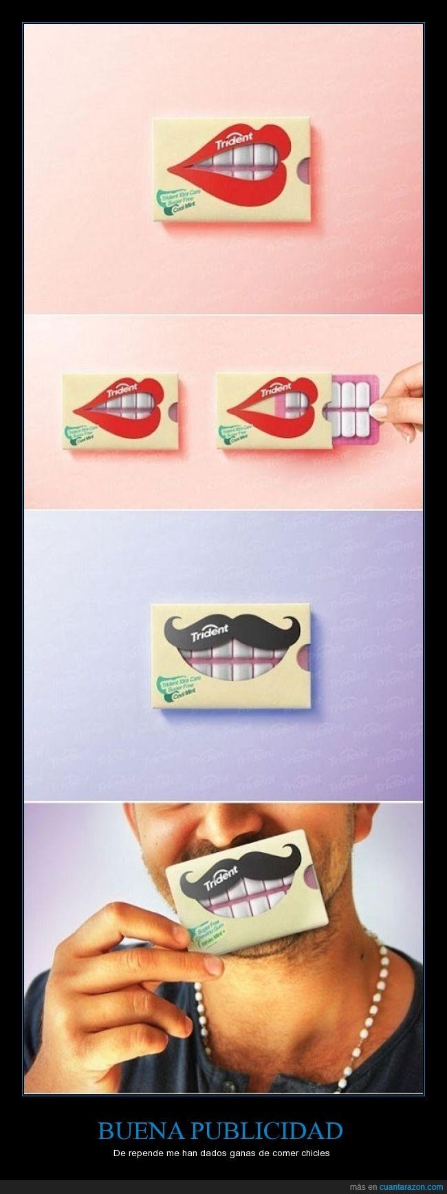 boca,cajas,chicles,cool,dientes,quierouno,soloporlacaja,sonrisas,trident