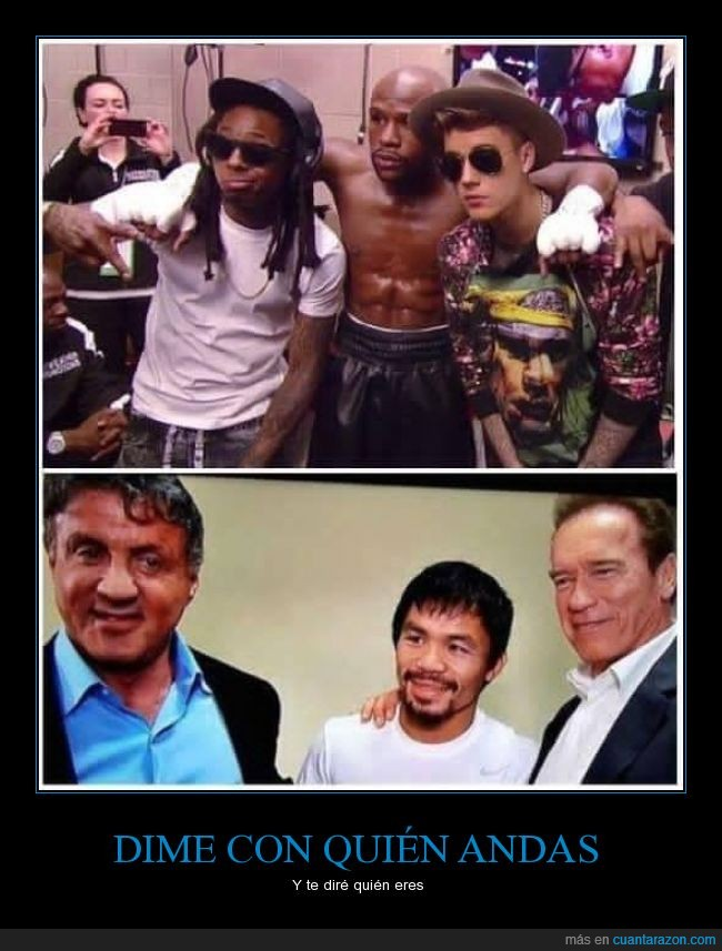 arnold schwarzenegger,floyd mayweather,justin bieber,manny pacquiao,sylvester stallone