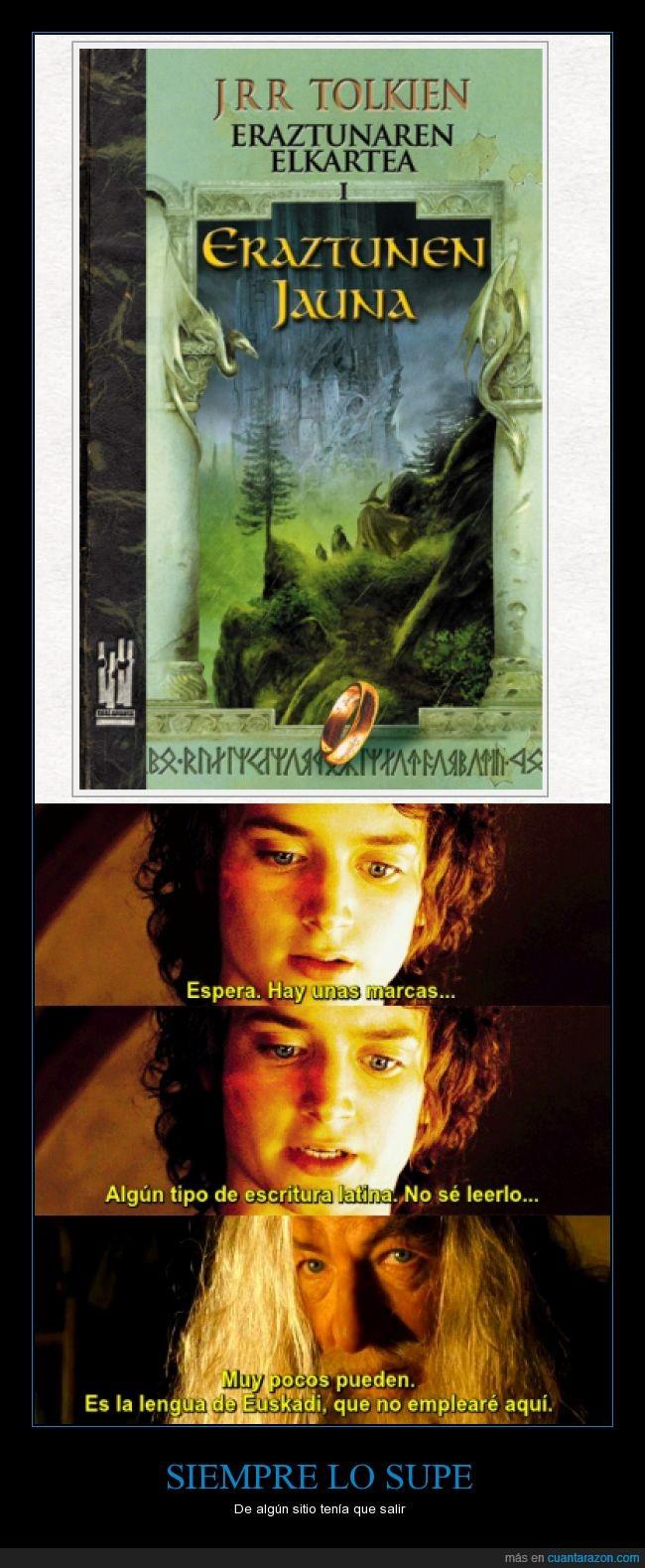 el señor de los anillos,Euskadi,euskera,frodo,gandalf,vasco