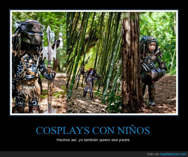 cosplays,disfraz,el depredador,mini,niño,predator