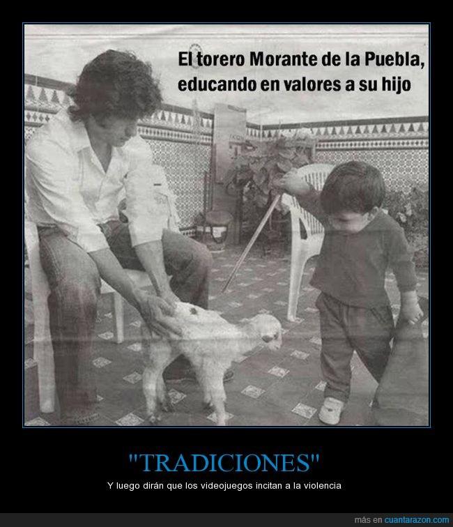 cabra,cabrita,educar,hijo,Morante de la Puebla,niño,pequeño,torero,valores