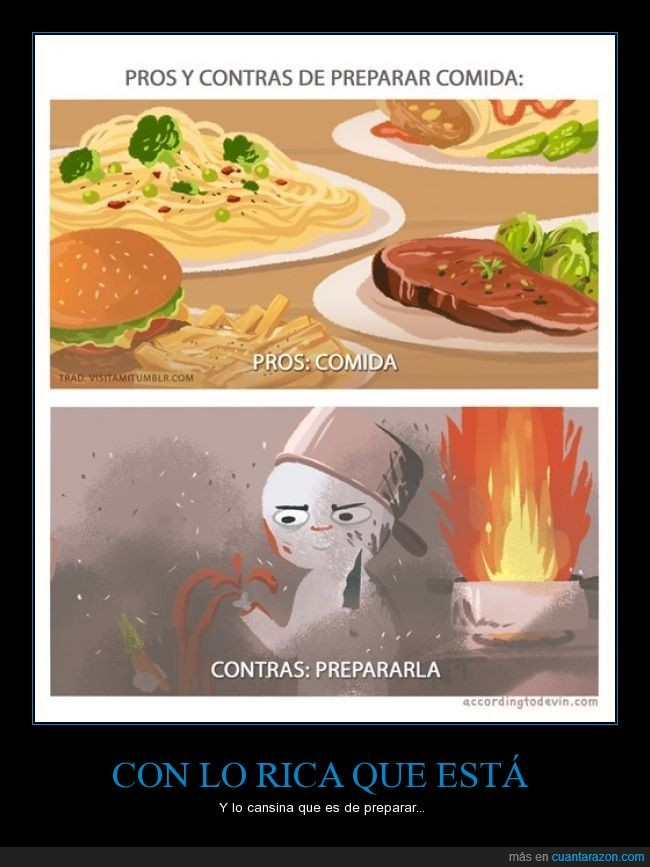 cocina,comer,comida,drama,fuego,imagen vale mas que mil palabras,preparar,rico