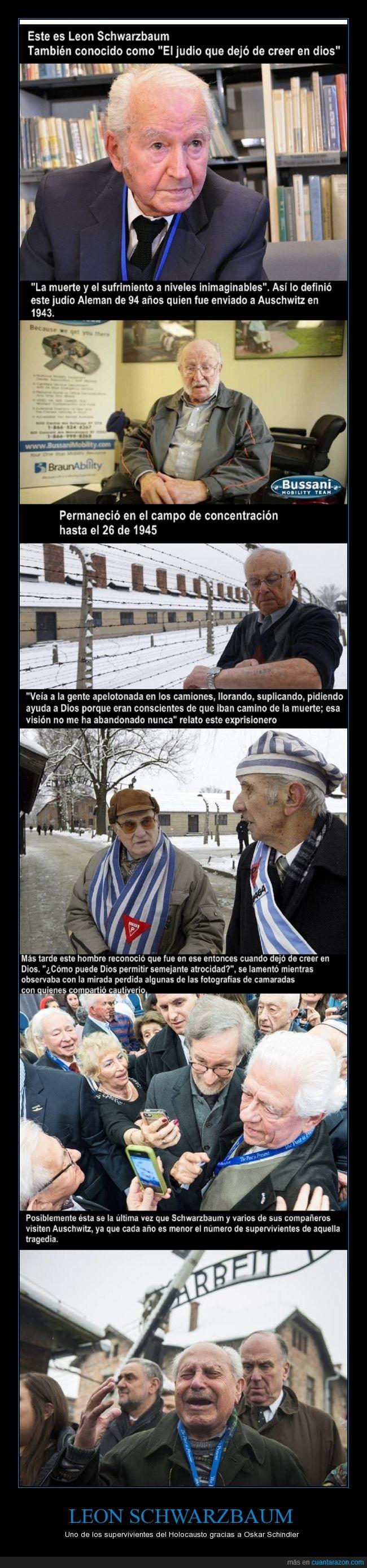 Auschwitz,campo,concentración,Holocausto,Leon Schwarzbaum,nazi,nazismo,Oskar Schindler,Superviviente