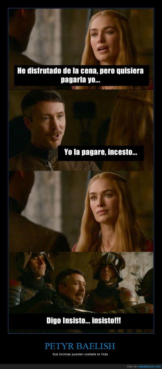 cersei,incesto,insisto,juego de tronos,little finger,meñique,Petyr Baelish