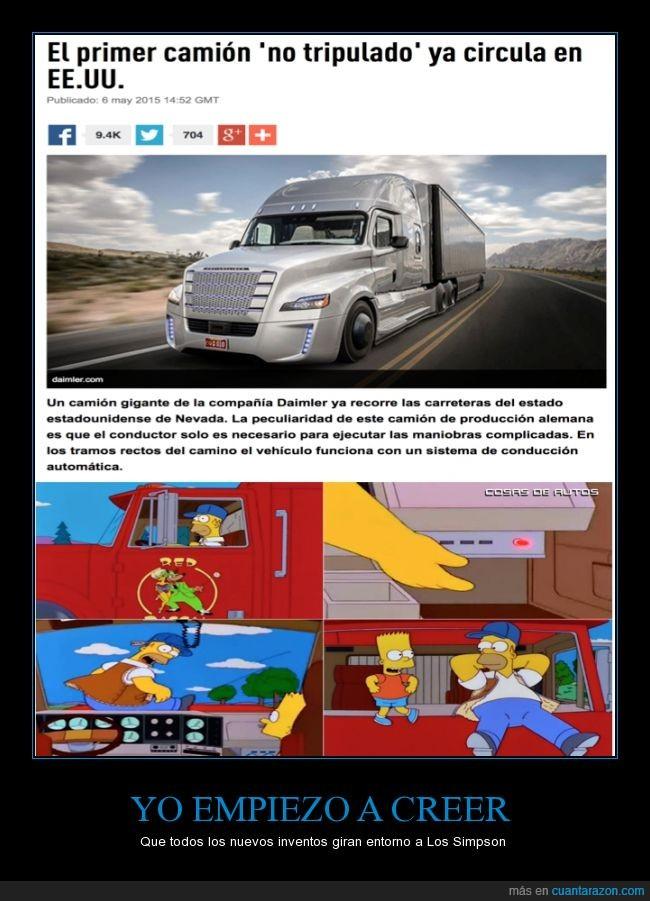 automatico,camion,conducción automática,conduce,conducir,eeuu,homer camionero,los simpson,piloto,solo