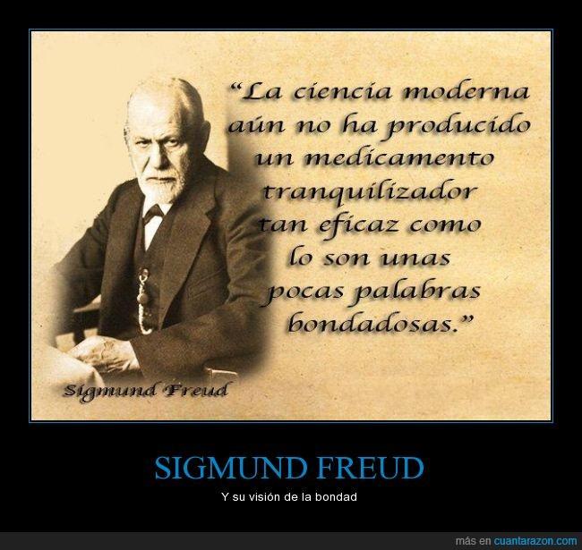 amor,bondad,bondadosas,compuesto,eficaz,medicamento,medicina,mejor,palabras,Sigmund Freud,tranquilizador,tranquilizar,vision