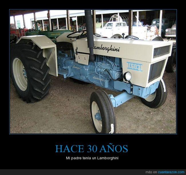 años,coche,granja,Lamborghini,lujoso,tractor