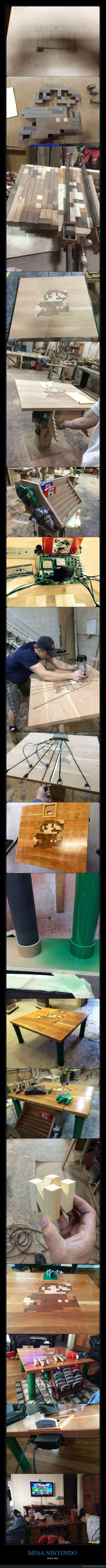 handmade,juego,madera,mario,mesa,N64,nintendo,nintendo 64