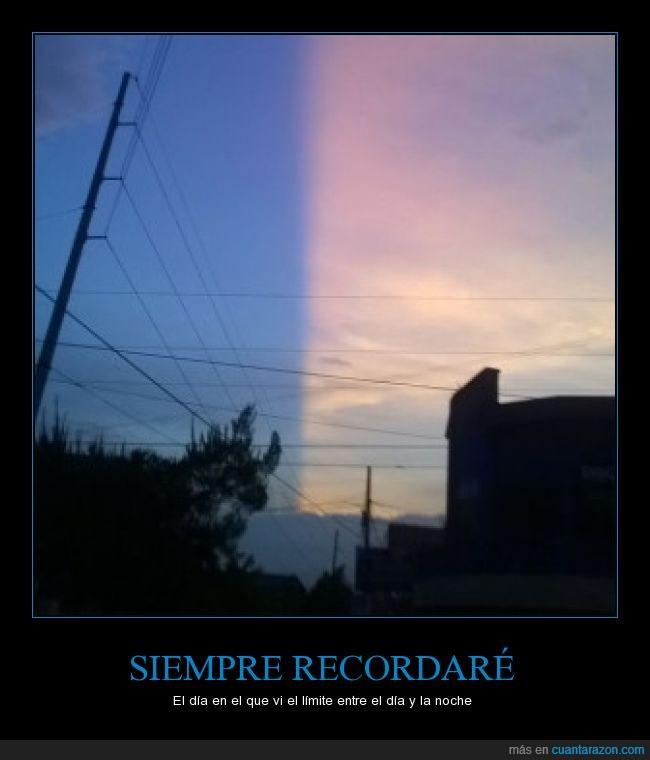 anochecer,atardecer,cambio,cielo,dia,efecto,luz,noche,óptica,perspectiva