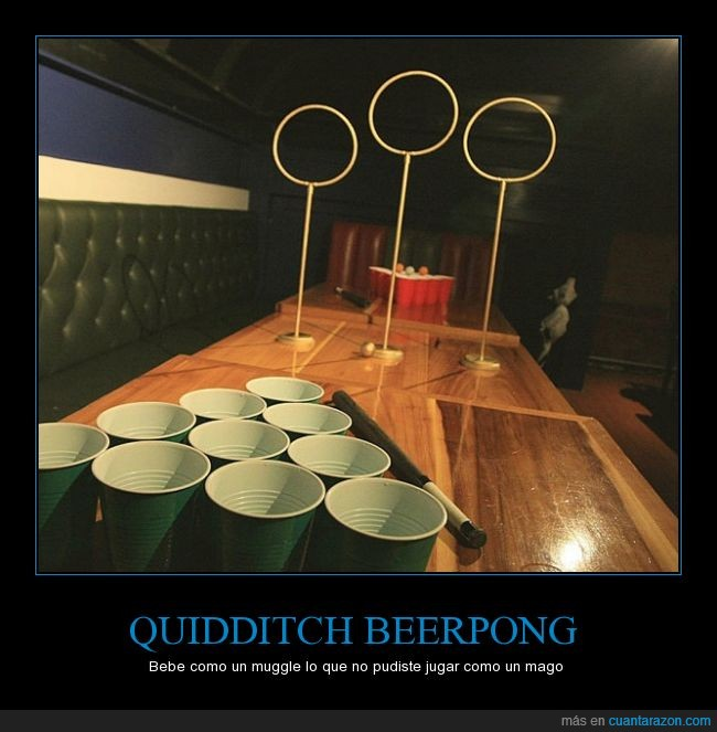 aro,beer,beerpong,Harry Potter,muggle,pong,quidditch
