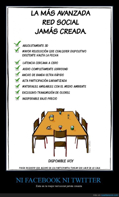 algo,amigo,amistad,Facebook,hablar,mesa,persona,quedar,red social,sentado,sentar,tomar,Twitter,ventajas
