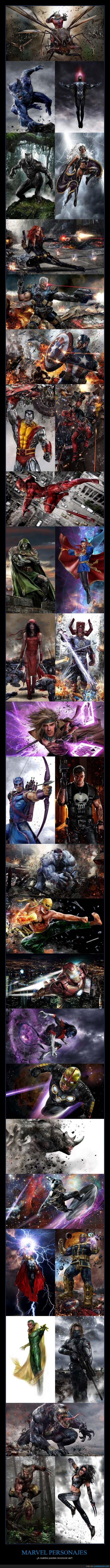 heroes,ilustracion,marvel,personajes,spiderman,xman,xmen