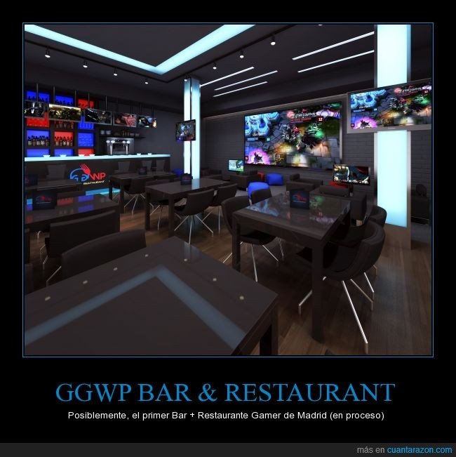 bar gamer,cod,dota,friki,gamer,gaming,gg wp,gg wp bar,gg wp respurant,hots,lol,madrid,restaurante gamer