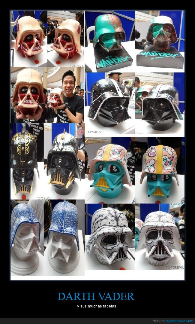 arte,casco,cerebro,Darth Vader,decoracion,decorar,facetas,ilustracion,personalizado,personalizar,pintar,Star Wars
