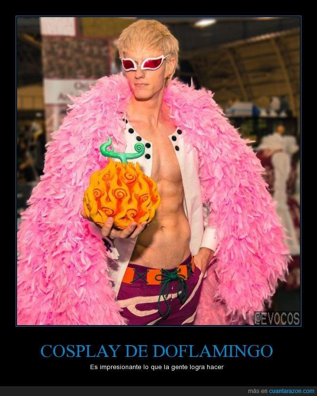 cosplay,Doflamingo,donquixote,Fijo me tomaría una foto si me lo encontrara,Increíble,One piece