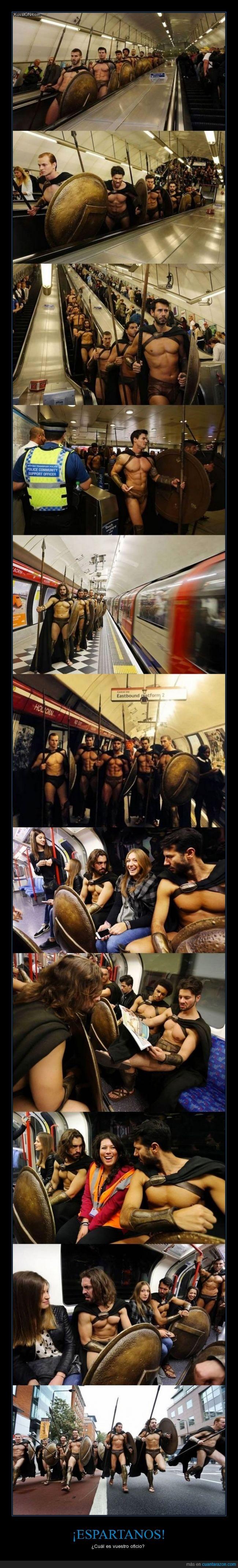 300,cosplay,disfraz,Esparta,espartanos,metro