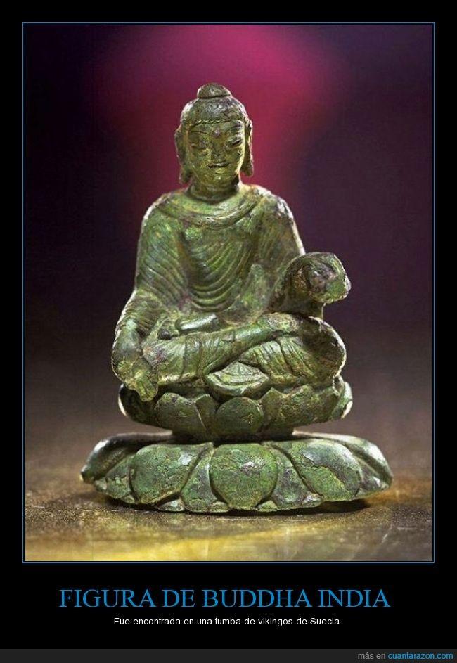 antiguo,Buddha,budista,conquistar,lejos,Suecia,tumba,vikingo