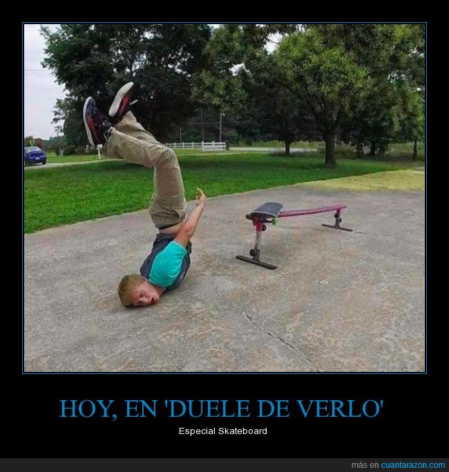 barandilla,caída,error,fail,golpe,muerte fijo,patinete,skate,skateboard,tabla