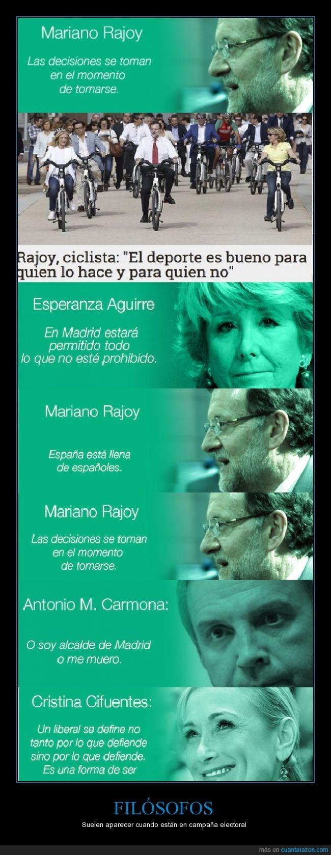 Carmona,Cifuentes,elecciones,Esperanza Aguirre,Filosofía de políticos,frases absurdas,Madrid,PP,PSOE,Rajoy