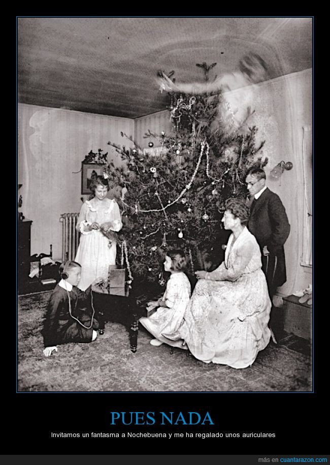 1920,audífonos,cena,dormir,el chico usa Spotify,el fantasma se lo pasa bien,error,fantasma,fotografía,miedo,navidad,no,noche,nochebuena,oscuro,poder,prehistoria,rock,terror