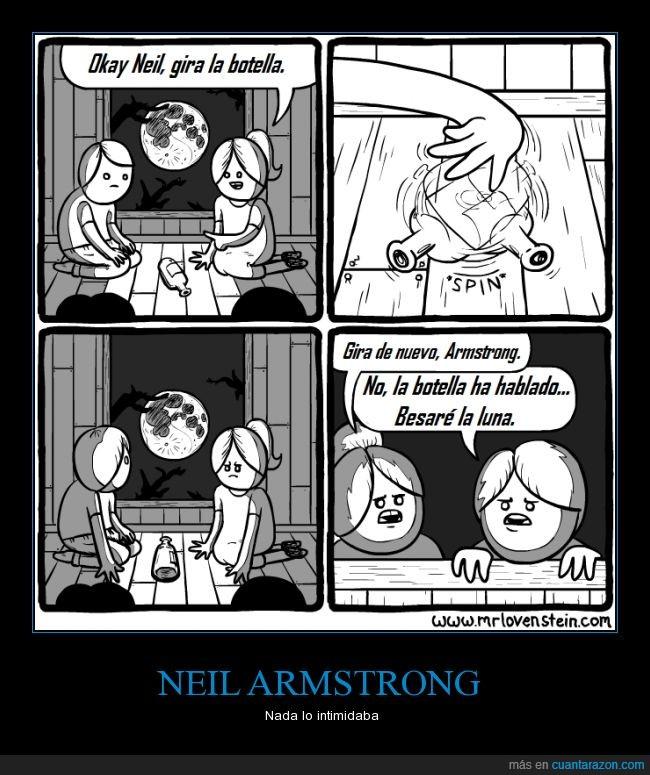 besar,beso,botella,chica,luna,Neil Armstrong,Saludos a todos,Vaya convicción