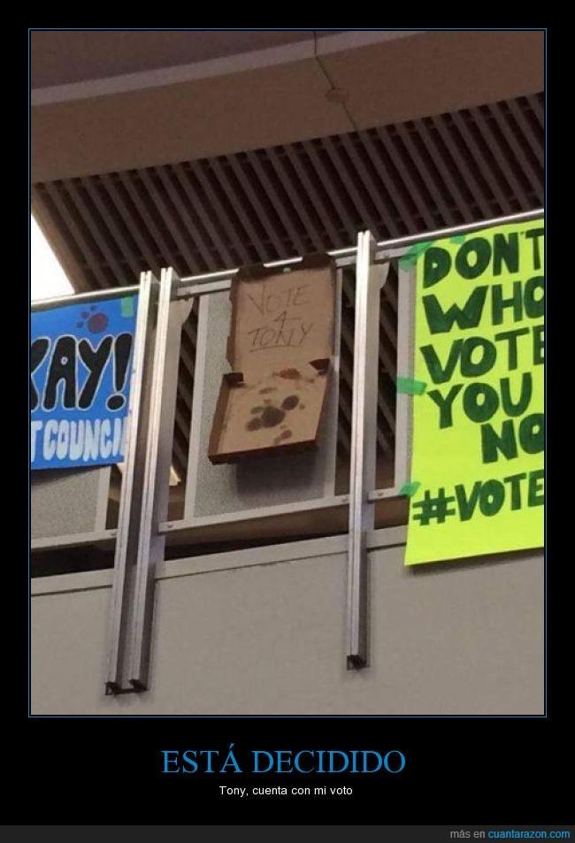 aceite,caja,consejo,cutre,el mejor,estudiante,estudiantil,fail,instituto,pedir,pizza,pobre,presidente,votación,votar,voto,win