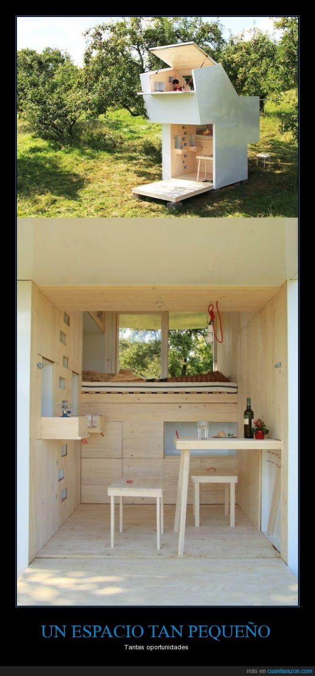 arquitectura,Casa,madera,minima,minimal,pequeña,piso,prefabricada
