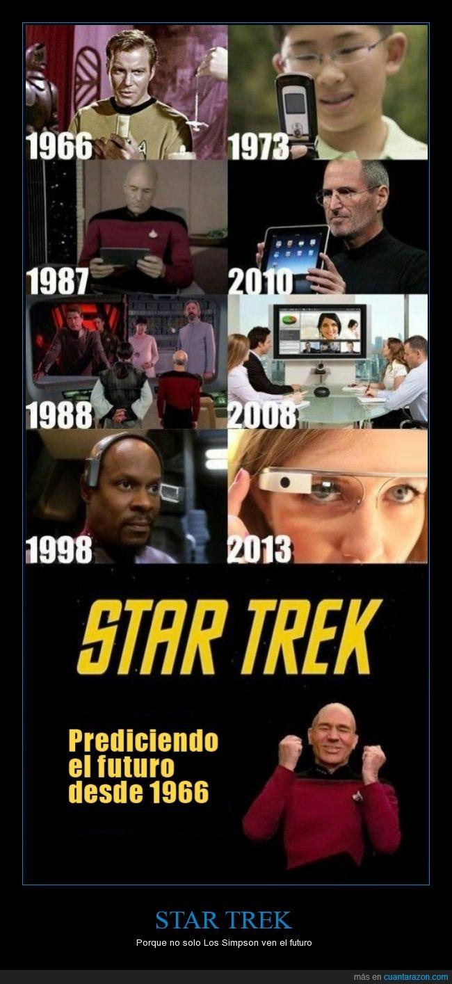 futuro,google glass,ipad,los simpson,movil,predecir,star trek,tactil,tecnologia