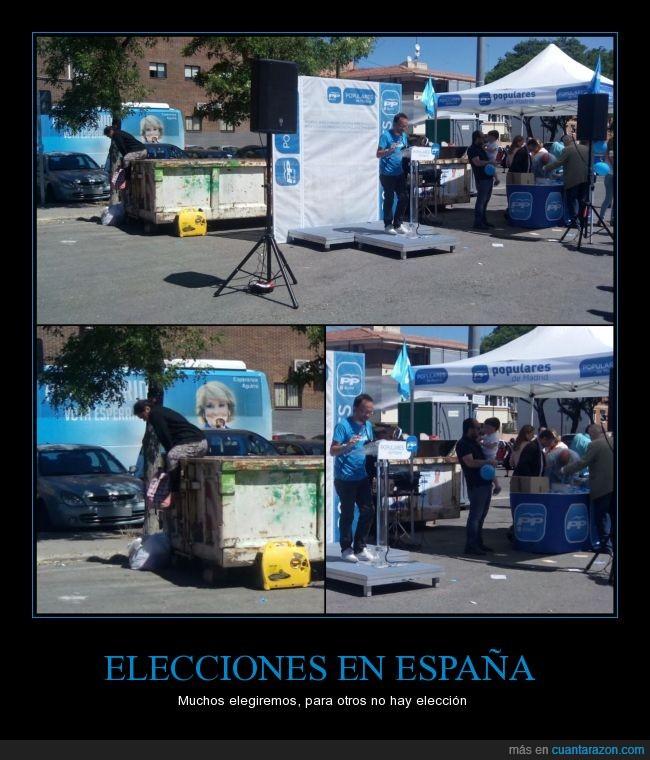 basura,buscar,demagogia en una foto,dentras,el PSOE también apesta,elecciones,España,homeless,mendigo,partido popular,pobre,pobreza,PP