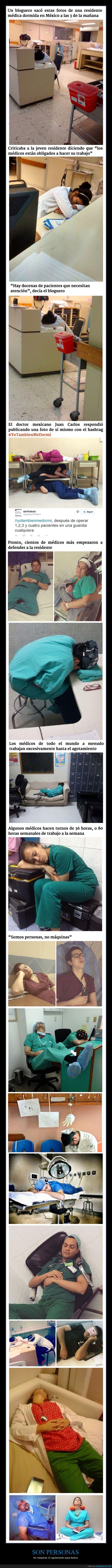 descansar,descanso,doctor,enfermera,hospital,maquina,medico,operacion,persona,residente,se lo merecen todo y más,sueño,turno,urgencias,yotambienmedormi