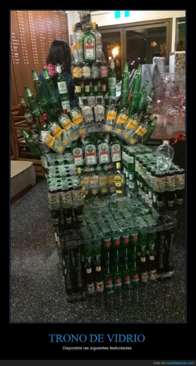 alcohol,bebida alcohol,botellas,Cersei es una alcohólica,fiestas,game of thrones,juego de tronos,trono