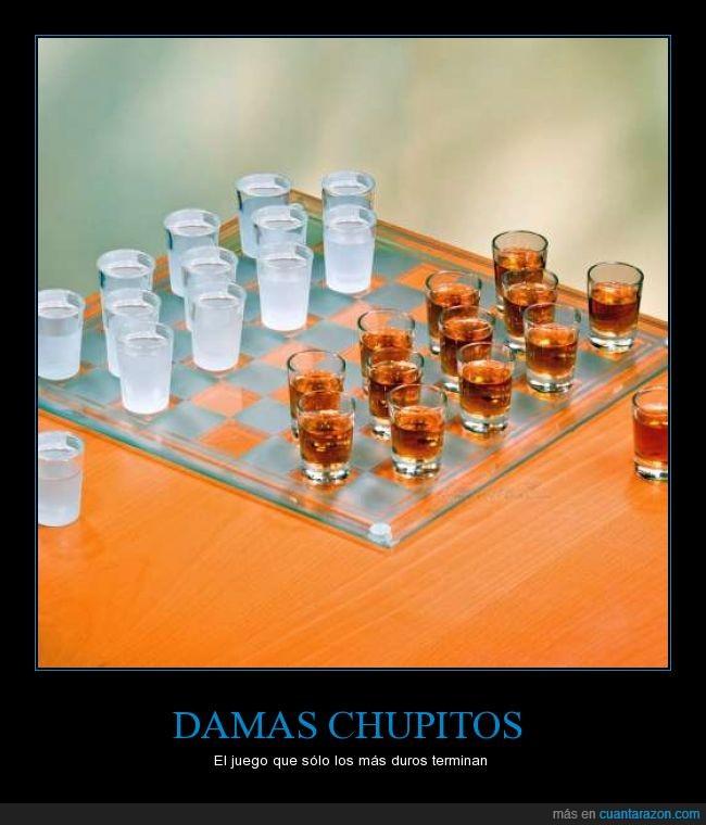 alcohol,damas,juego de mesa,table,tragos,vamos a beber