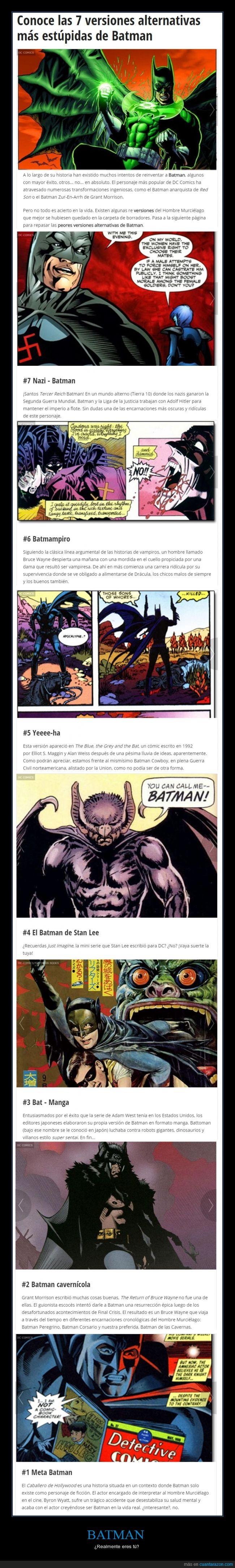 batman,dc,diferente,diseños alternativos,versiones un poco bizarras