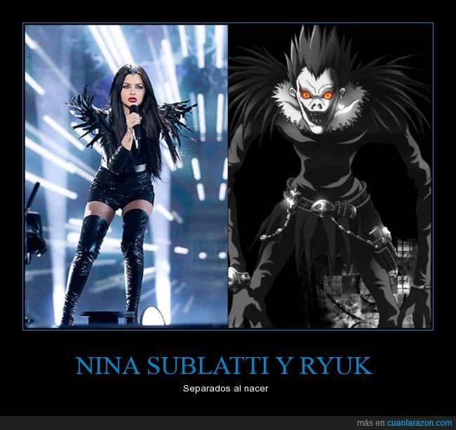 Death Note,Eurovisión 2015,Nina Sublatti,Ryuk