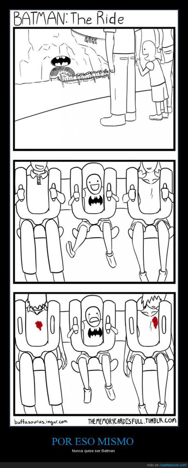 atracción,Batman,cómic,como,dibujos,huerfano,humor,juegos mecánicos,morir,niño