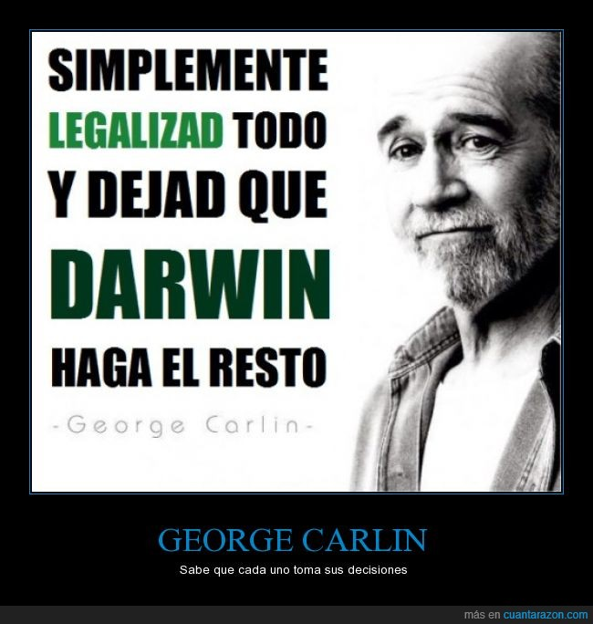 darwin,george carlin,lega,resto,seleccion natural