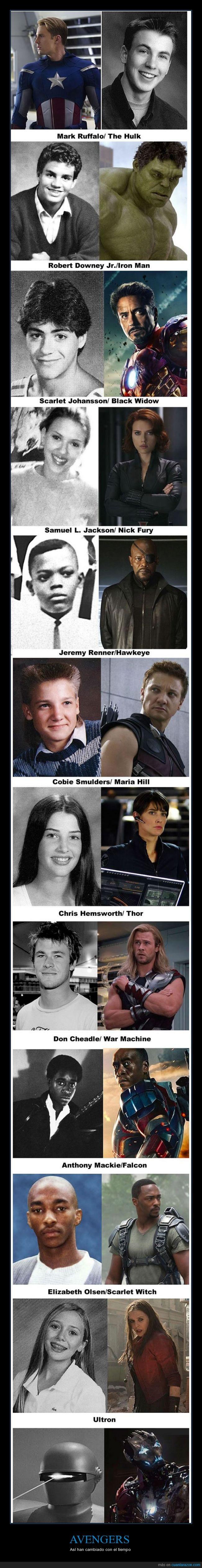 Avengers,edades,Marvel,superheroe