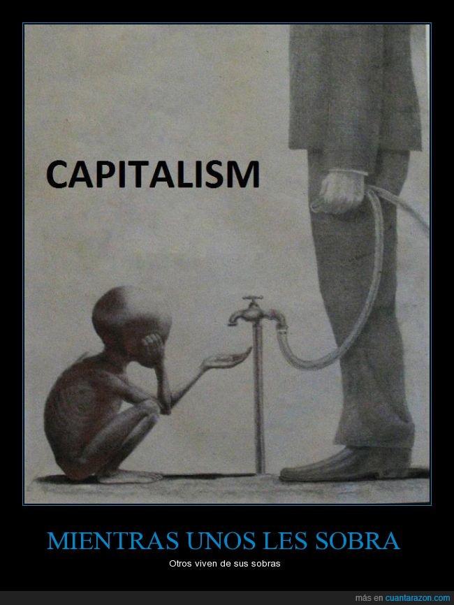 agua,beber,Capitalismo,Desigualdad,diferencia,grifo,manguera,Pobre,Rico