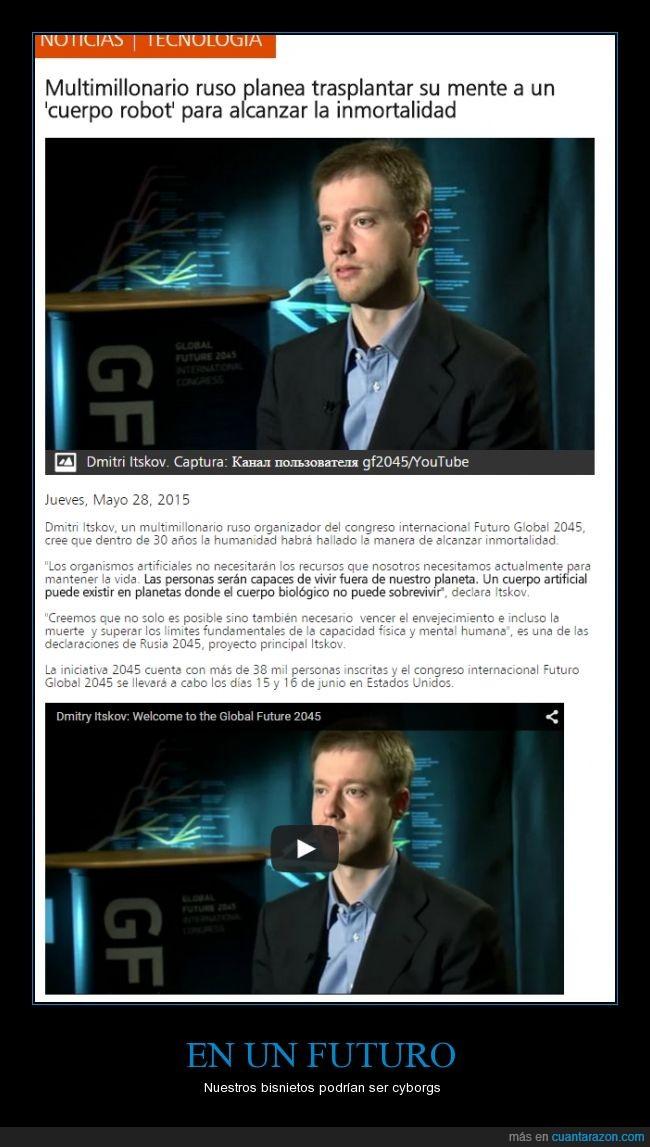 cerebro,cuerpo,Dmitry Itskov,futuro,Glad0s,IA,inteligencia artificial,robot,robótica