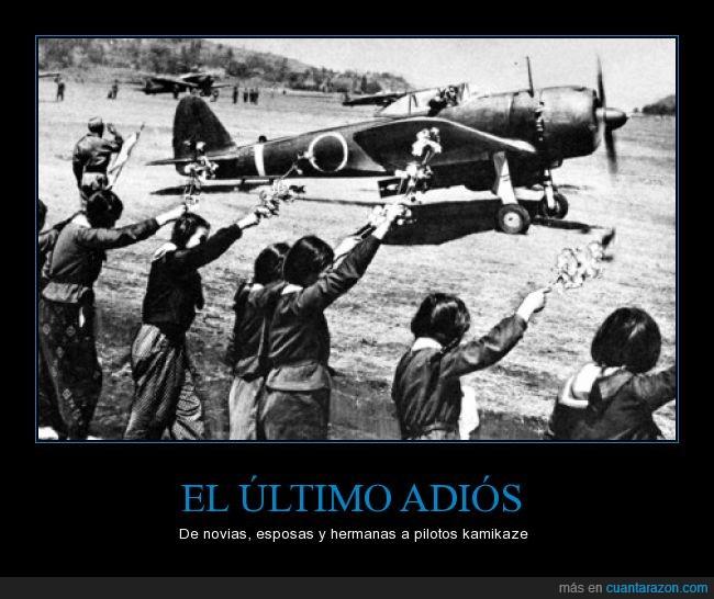 adios,avion,hermana,japoneses,kamikaze,madre,novia,piloto,ultimo,WWII