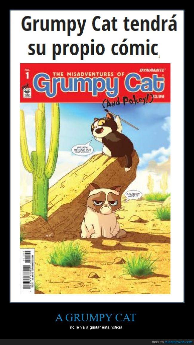 a grumpy no le va a gustar,comic,ese gato me recuerda a mi abuelo por cascarrabias,grumpy cat,meme,noticia
