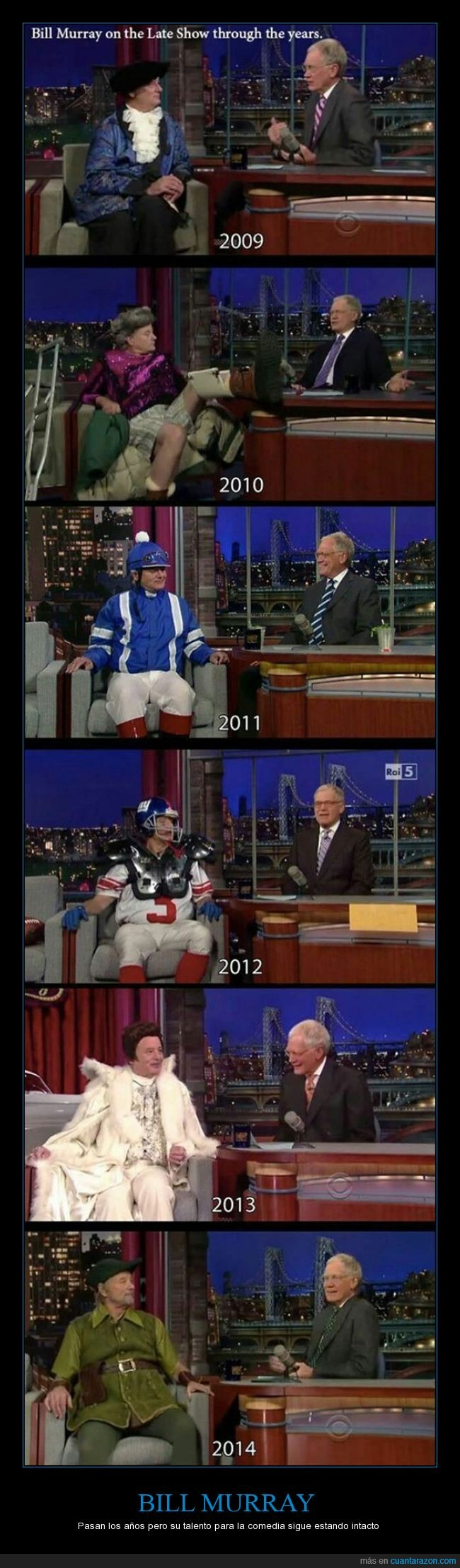 Bill Murray,de los mios,disfraz,genio de la comedio,gran bill,late show