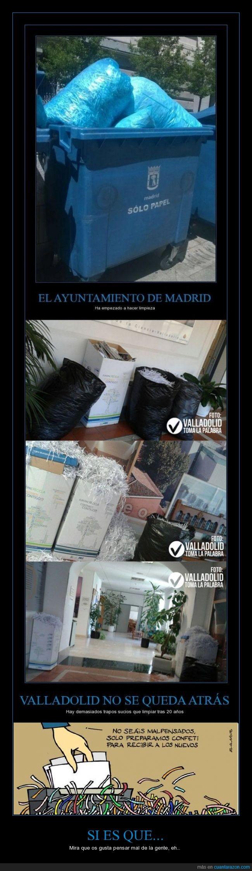 alcaldía,confeti,destruccion,destruir,España,gobierno,malpensados,papeles,politica,pruebas