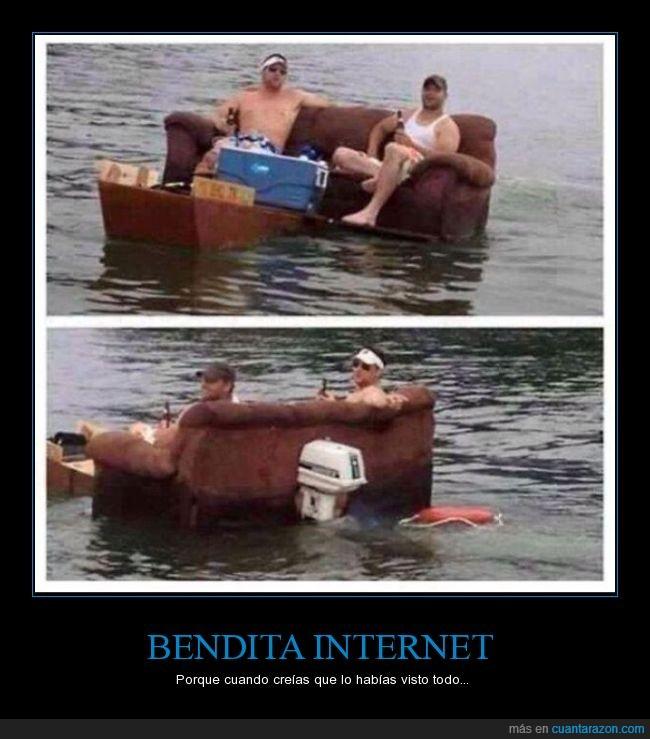 bote,hilera,lancha,motor,mueble,río,sala,Sillón,sofá