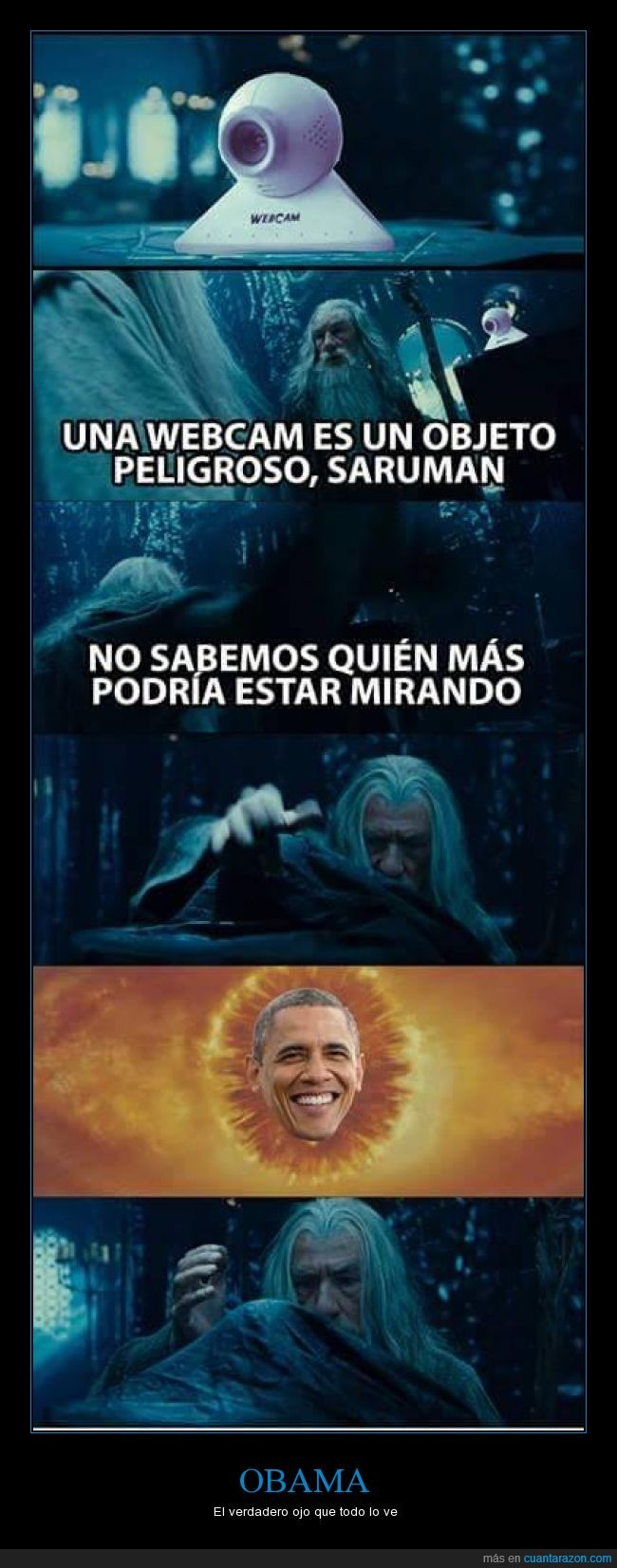 el señor de los anillos,esdla,Gandalf,Lord of the rings,Obama,palantir,Saruman,tlotr