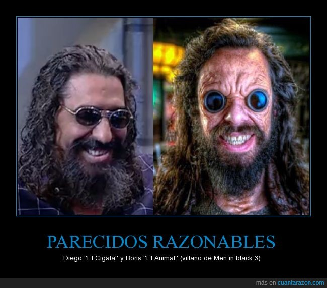 alien,boris el animal,El cigala,el hormiguero,igual,man in black,mib3,parecidos razonables
